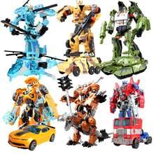 Hasbro transformadores robô carro, brinquedo de carro bumblebee autobot, tanque de dinossauro, plástico abs, figura de ação, modelo, crianças, brinquedo educativo, carro de criança
