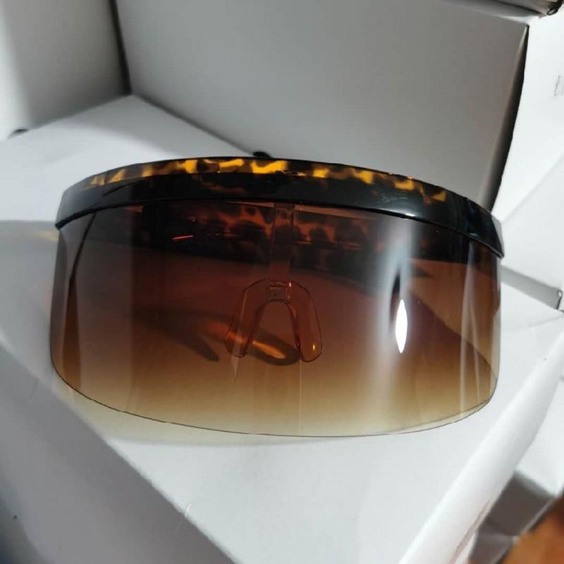 2020 New trend Women Oversize Shield Visor stylish Sunglasses  Retro Windproof.