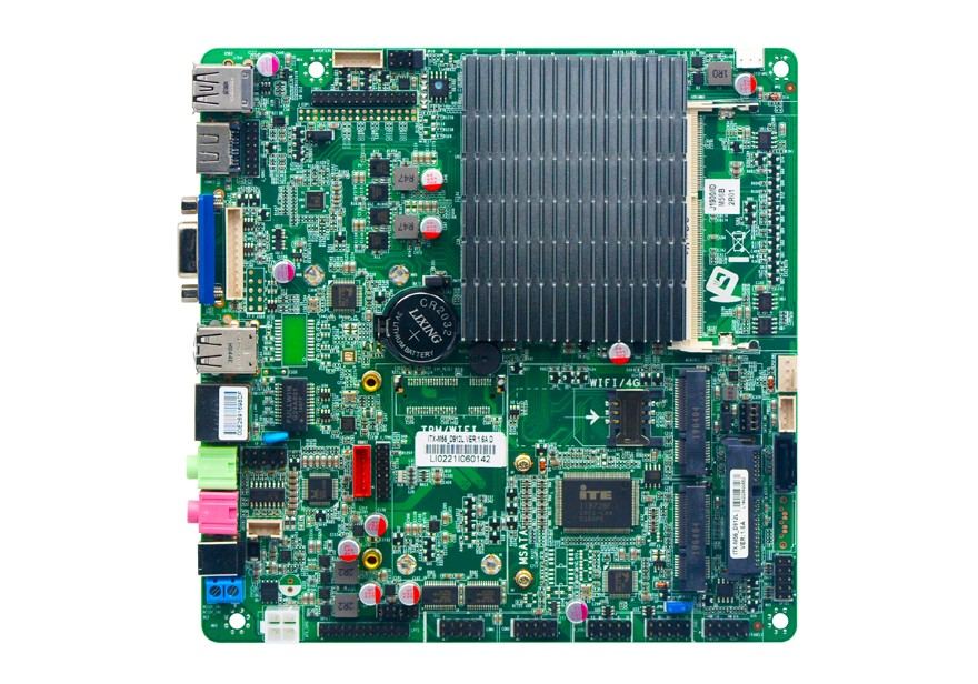 Купить с кэшбэком Celeron Processor J1900 motherboard with LVDS, Support 8G ddr3 mini computer motherboard, mini itx motherboard 2.0GHZ