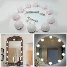 Maquillage miroir vanité lumière LED ampoules Kit USB Port de charge cosmétique ampoule éclairée Profession maquillage miroirs luminosité lumières D43