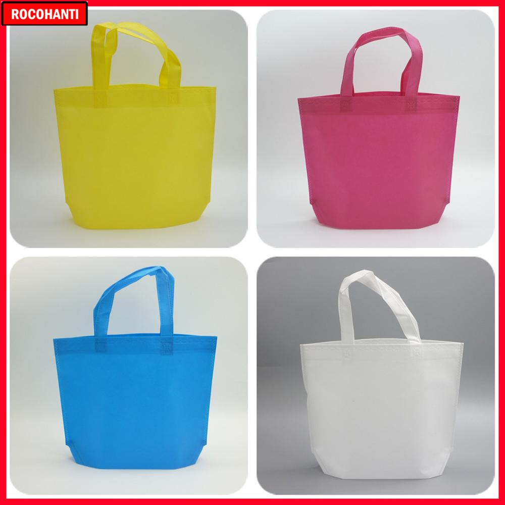 100PCS Non Woven Shopping Gift Bags With Large Storage Space Two Handles 80g Non-Woven Fabric Bag Custom Your Logo Printed
