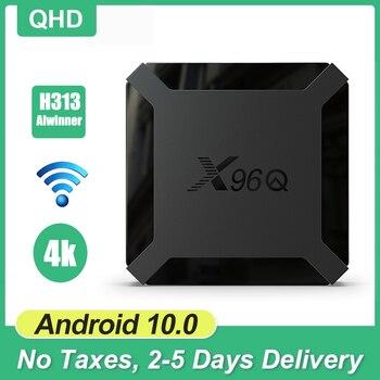 X96Q TV BOX Android 10.0 1G 8G Allwinner H313 Quad Core 2.4G WiFi FULL HD 2G 16G 4K Media Player Smart TV Box X96 Q PK X96 Mini x96q tv box android 10 allwinner h313 quad core 4k 3d 2gb 16gb 2 4g wifi media player netflix h 265 smart set top box pk x96mini