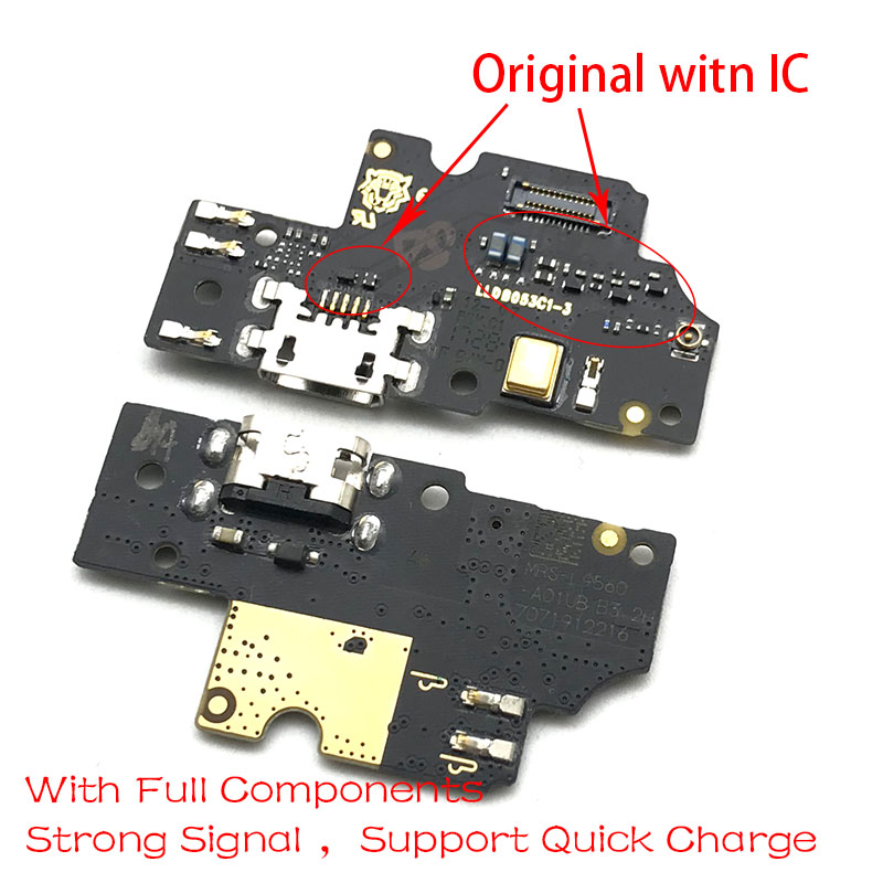 New USB Charging Port Board Flex Cable Connector Parts For BQ Aquaris U2 Lite Microphone Module
