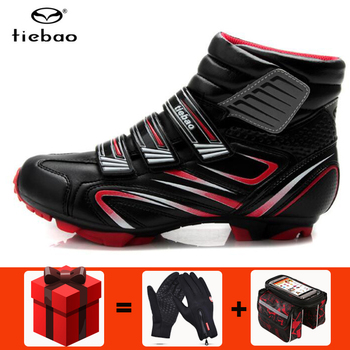 TIEBAO winter Cycling Shoes men sapatilha ciclismo MTB Non-Slip TPU Sole Mountain Bike Wear-Resisting Bicycle Self-Lock Shoes