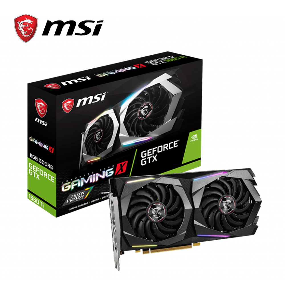 MSI Video-Card Hdmi-Graphics-Card Gaming Pc GDDR6 Gtx 1660 Geforce 6GB 192bit Pci-Ex16-3.0