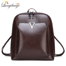 2019 New Women Vintage Backpack Brand Luxurious Leather Womens Shoulder Bag Large Capacity School Bag For Girl Leisure Backpac