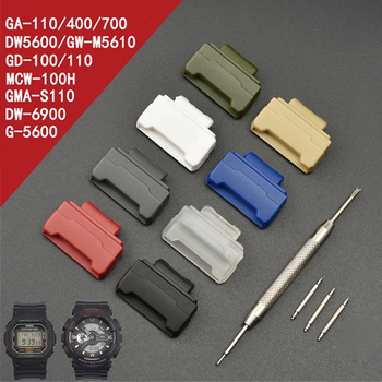 16mm TPU Adapters for Casio G-Shock GA-110/100/120/150/200/300/400/700 GD-100/110/120 DW-5600 6900 Watch Connector Accessories 1set adapter spring bars tools kit for g shock dw 5600 dw 6900 g 5700 ga 100 kit