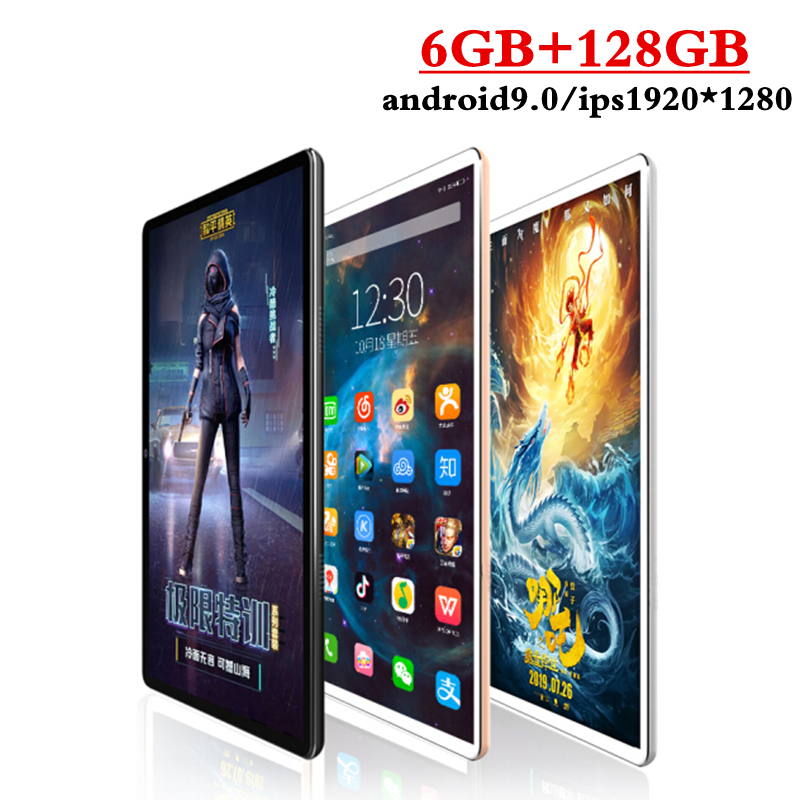 2020 Newest 10.1 Inch Tablet Android 9.0 Octa Core 6GB RAM 128GB ROM 3G 4G FDD LTE Wifi Bluetooth GPS Phone Call Tablet Pc