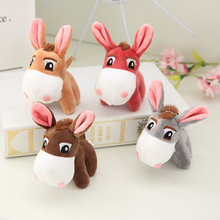 13CM Cute Little Donkey Plush Toys Keychain Mini Pendant Soft Stuffed Animals Doll Girls Toys Bag Pendant Backpack Accessories little donkey toys key chain plush animals soft baby kids toys for children girls boys kawaii mini donkey pendant keyring