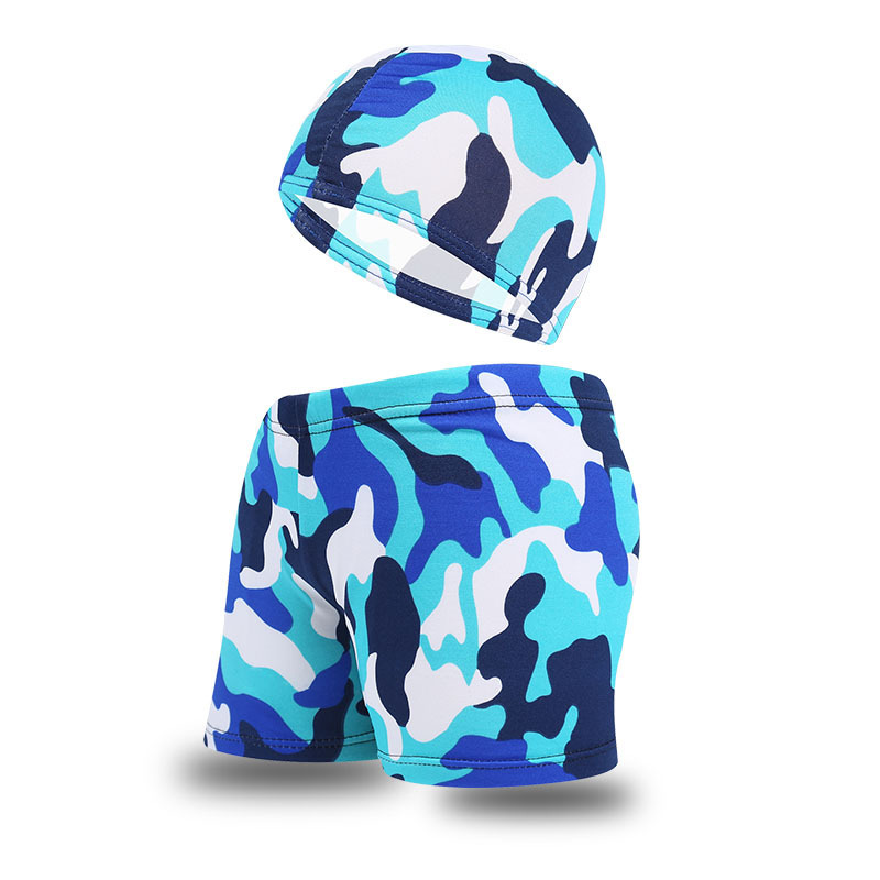 CHILDREN'S Swimming Trunks BOY'S Hooded Swimming Trunks Boxer Cute Shorts Big Boy Camouflage Swimming Trunks