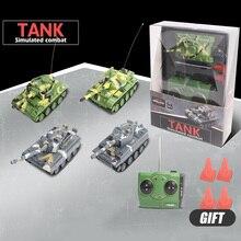 led light 4-CH 1:64 mini remote control tank RC car simulation combat  tank model educational toy children gift цена 2017