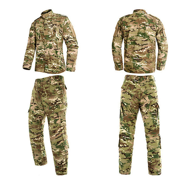 HAN WILD Military Uniform Jungle Camouflage Combat Airsoft Tactical Jacket Pants Clothing Set ACU CP Army Suit Dropshipping 3