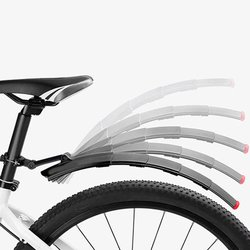 Górski błotnik rowerowy Quick Release z tylne światło ledowe składane migające chowane światła akcesoria rowerowe