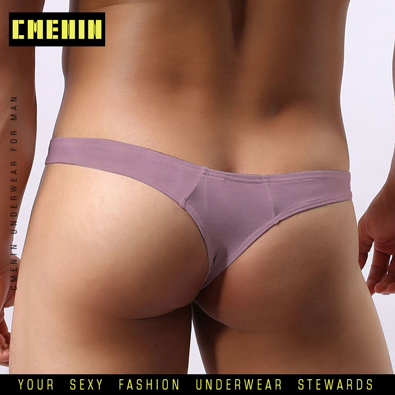 CMENIN New Fashion Sexy Gay Men Undrewear Jockstrap Cueca Male Panties Lingeries Cotton Gay Men Bikini Thong Men G String AD313