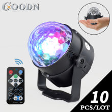 Dj Disco Magic Ball Moving Head Kristal Lampu Panggung Pesta Lampu RGB Efek Pencahayaan DMX Suara Remote Lampu USB Lumiere KTV(China)