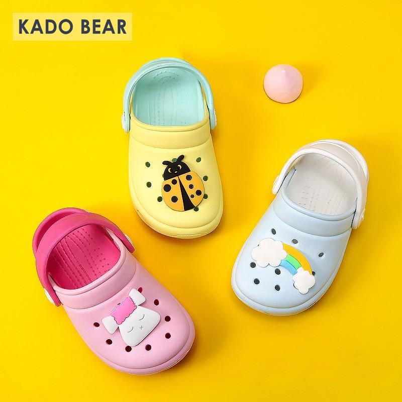 Baby Boy Girl Rainbow Indoor Home Barefoot Shoes Children Garden Sandal Flat Cartoon Slippers Kids Beach Water Outdoor Flip Flop