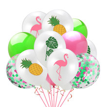 12inch Hawaiian Party Balloons Flamingo Pineapple Latex Balloon Baby Birthday Party Decoration Wedding Balloon Party Supplies flamingo party tableware palm leaf pineapple napkins balloon garlands tropical hawaiian party favors happy birthday decorations