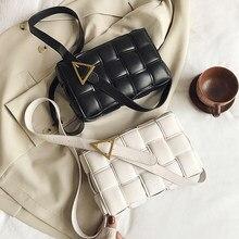Moda bolsas de viagem ombro feminino corpo cruz saco tecer couro do pequeno crossbody sacos parágrafo como mulheres