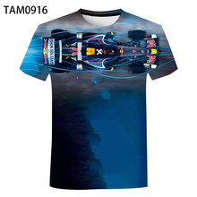 F1 racing 2021 summer new 3D printing men's and women's punk style loose short sleeve children's simple casual T-shirt