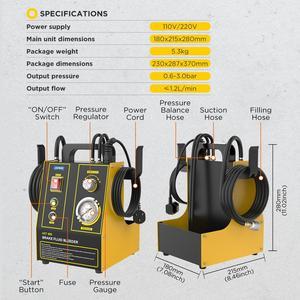 Image 2 - AUTOOL مبدل تعبئة زيت فرامل السيارة ، آلة استخراج ، مضخة نقل نبضية كهربائية ، لتنظيف خط الأنابيب ، 220 فولت ، 110 فولت ، AST605