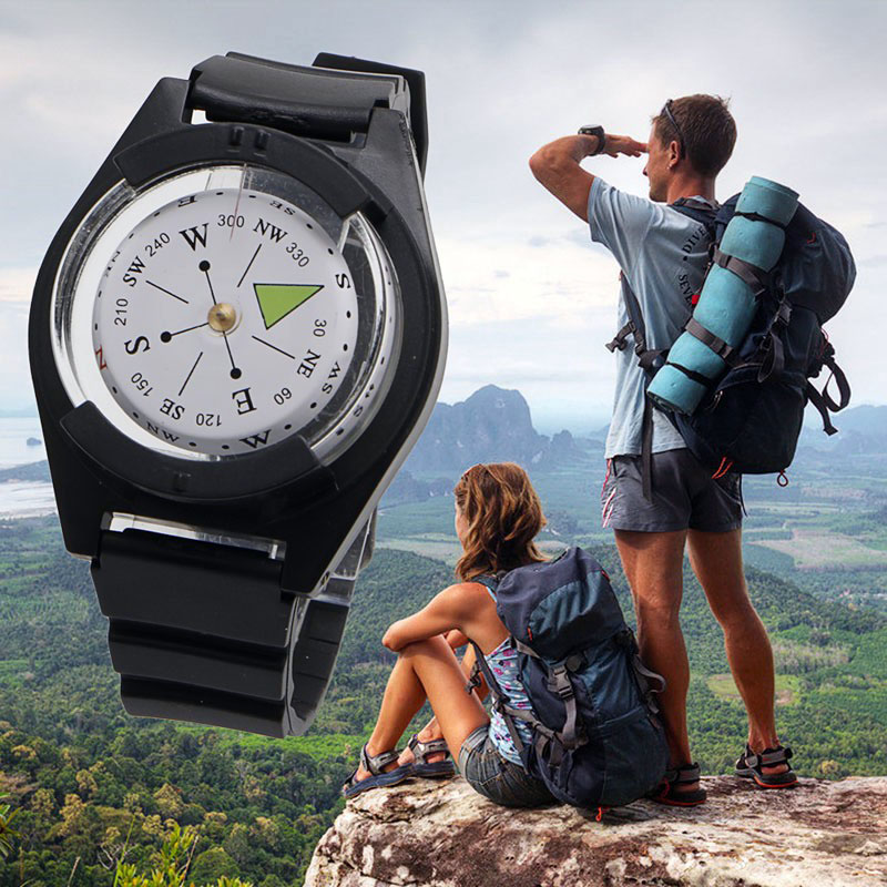 Portable Wrist Compass Outdoor Camping Survival Tool Military Tactical Compass EDC For Climbing Hiking Hunting Travel Adventure(China)