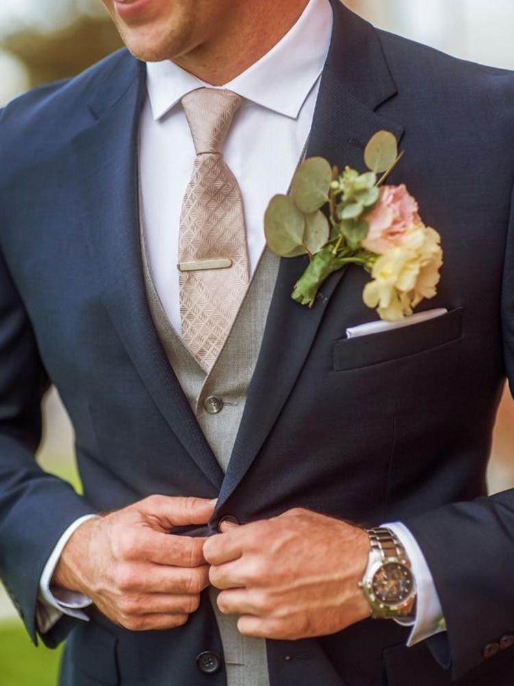 3 piece men slim wedding suit