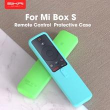 Sikai caso remoto para xiaomi mi caixa s 4x tv vara controle capa de silicone à prova de choque protetor amigável da pele