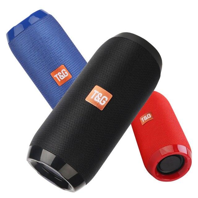 Outdoor Bluetooth Speaker Portable Bass Stereo Wireless Column Subwoofer Computer Speaker Support FM Waterproof Speakers 1