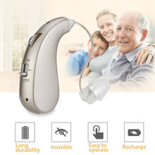 Audífono Digital recargable BTE para sordos, ayuda Invisible para pérdida severa, amplificador de alta potencia, potenciador de sonido