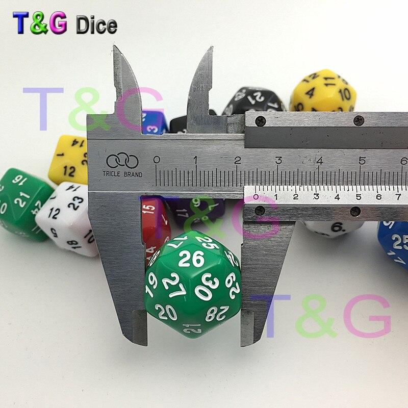 30 сторонних кубиков, 8 цветов, красный, синий, зеленый, желтый, черный, фиолетовый, коричневый, белый, высококачественные пластиковые кубики, 1 шт.|sided dice|dice 830 sided dice | АлиЭкспресс