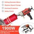 220V 1900W Mini Broca do Núcleo do Diamante Broca Molhado Handheld Máquina de Perfuração De Concreto do Núcleo com Acessórios Da Bomba de Água de Perfuração máquina