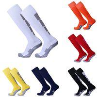 Football Soccer Plain Long Socks Stockings Comfortable Relief Socks Cotton Over Knee High Sock Sport Men Leg Compression Stretc