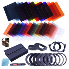 42in1 conjunto de filtro dslr câmera kit completo gradiente cor quadrado nd filtro 24 colorsgradient cor terno quadrado para câmera dslr