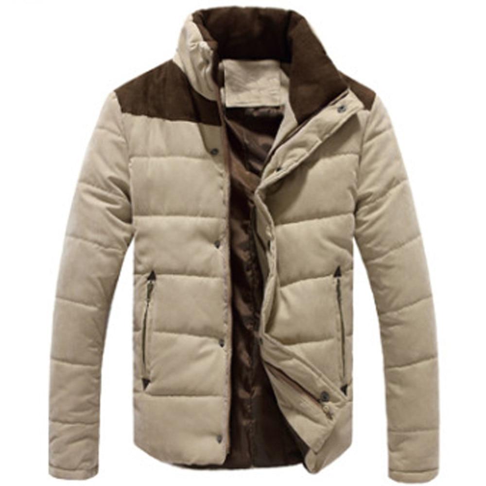 JAYCOSIN Men Clothes 2019 Men's Winter Leisure Zipper Stand Collar Peach Skin Cashmere Outwear Coat Tops Men's Park L501010