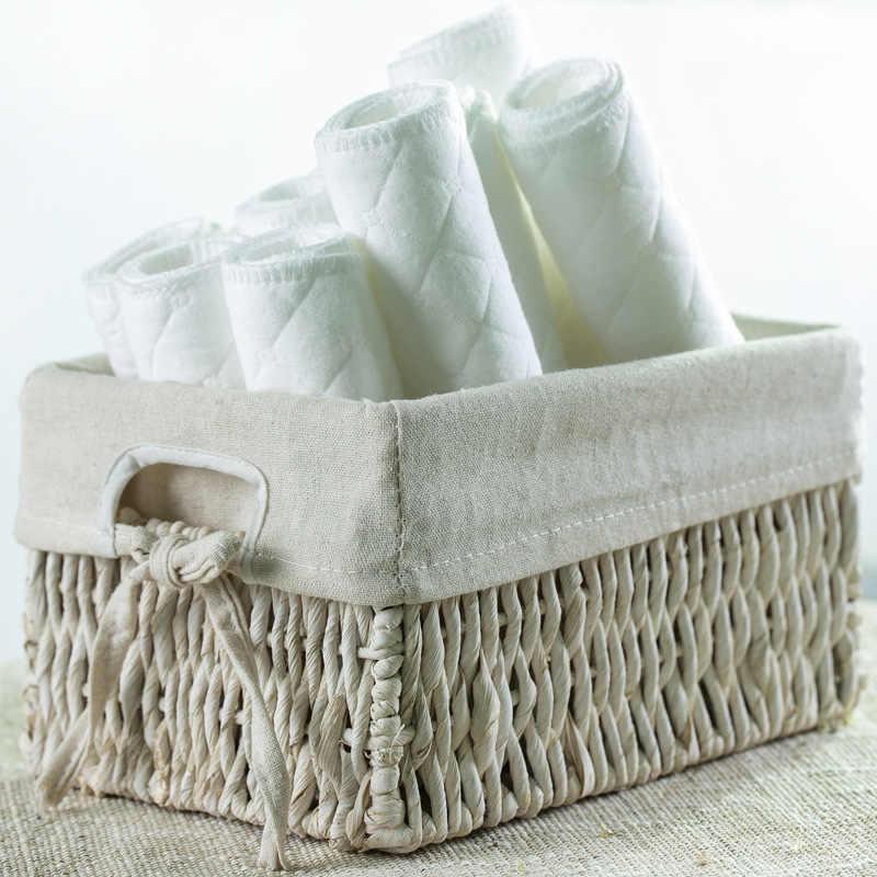 5Pcs 3 ชั้นไม้ไผ่แทรกล้างทำความสะอาดได้ Breathable แทรก Boosters Liners สำหรับผ้าอ้อมเด็กทารกผ้าอ้อมดูดซับดี