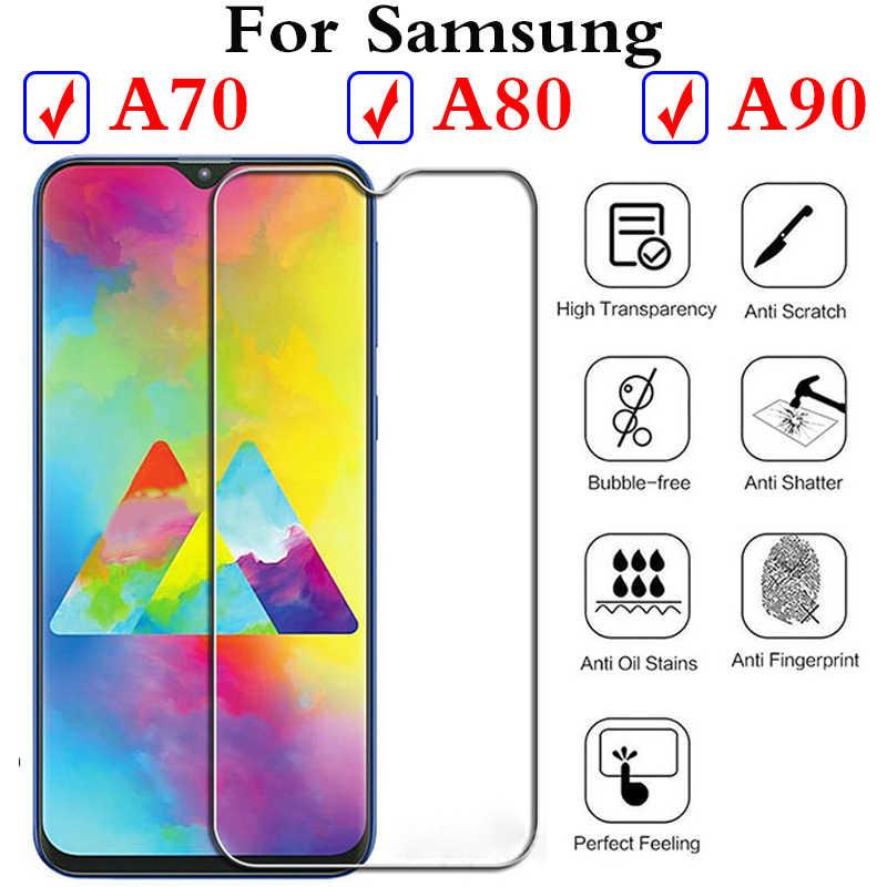 Для Samsung galaxу y A70 A80 A90 Стекло Температура устройство защиты от 70 90 Samsung galaxу Verre Tremp Стекло для A8 a9 a6 плюс 2018