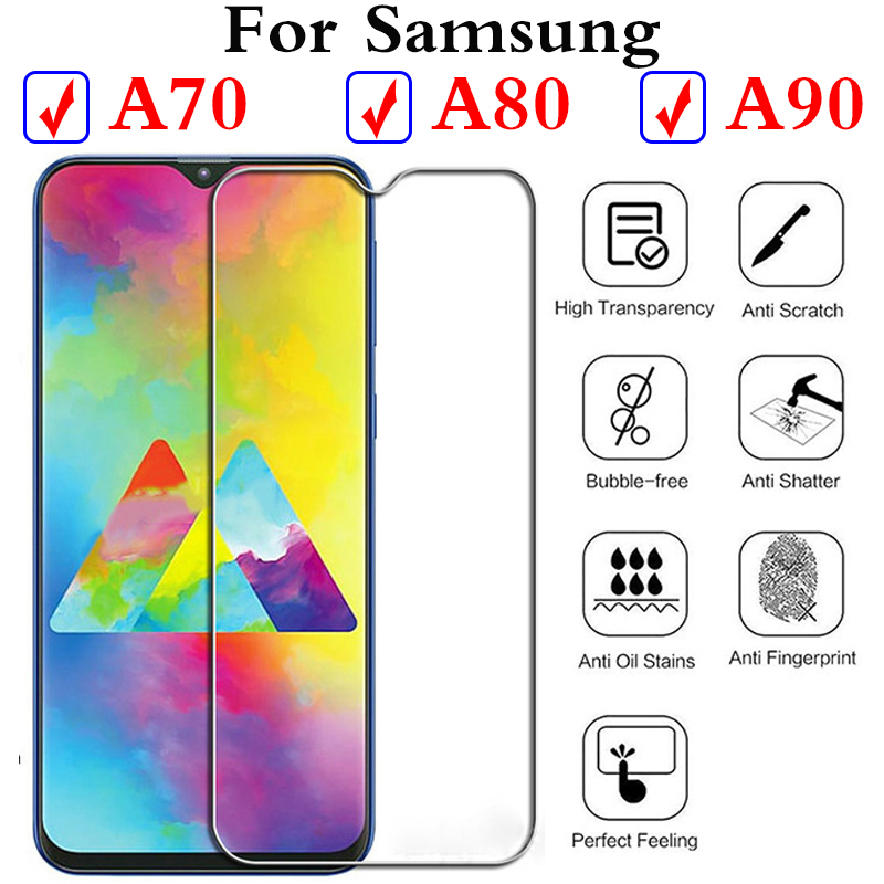 for <font><b>Samsung</b></font> Galaxy A70 A80 A90 <font><b>Glass</b></font> Temperature Protection Device 70 90 <font><b>Samsung</b></font> Galax Verre Tremp <font><b>glass</b></font> for A8 a9 a6 plus 2018 image
