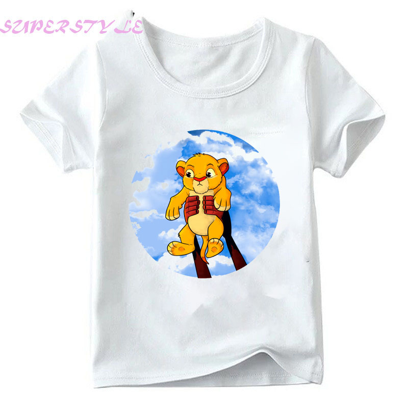 The Lion King Simba Girls White T Shirt  Summer 2019 Rocking Out Like It's '94 (color)  Boys T-Shirt Toddler Kids Tops DHKP303