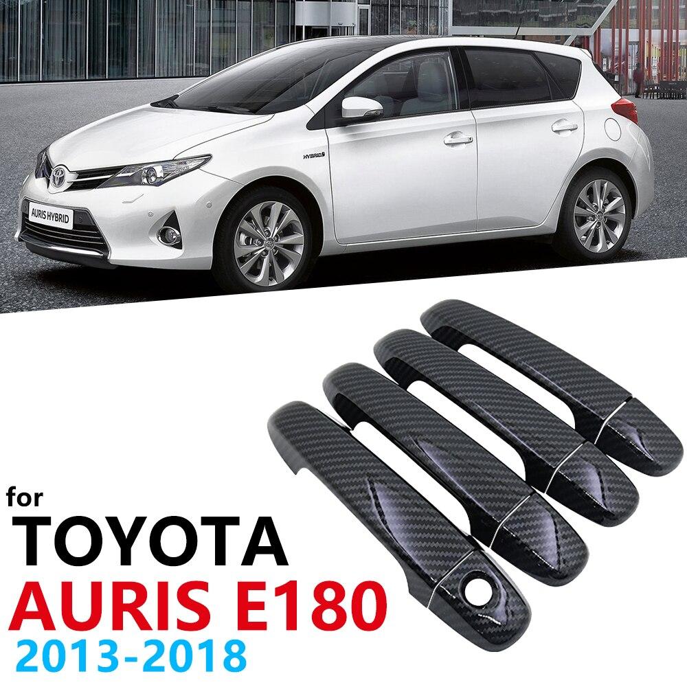 Poignées de porte de voiture en Fiber de carbone noir brillant pour Toyota Auris E180 hayon (AU) Scion iM 2013 ~ 2018 accessoires de voiture casquette 2014