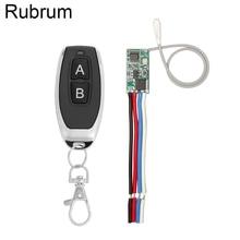 Rubrum 433 MHz Drahtlose Fernbedienung Schalter Empfänger Modul 3,6 V 12V 24V und 433 MHz Transmitter Fernbedienung steuerung Für Licht LED