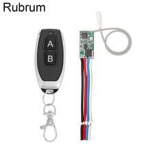 Rubrum 433 MHz bezprzewodowy odbiornik przełącznika zdalnego sterowania moduł 3.6V 12V 24V i 433 MHz nadajnik zdalnego sterowania dla światła LED
