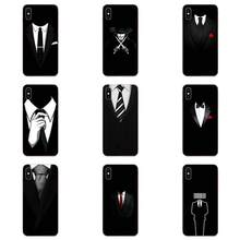 Soft TPU Non-slip Dark Suit Mystery Man For Galaxy Note 10 A10E A10S A20S A30S A40S A50S A6S A70S A730 A8S M30S S2 S3 Plus(China)