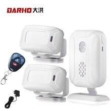 Darho Draadloze Deurbel Welkom Ir Infrarood Motion Sensor Alarm 280M Range Winkel Winkel Deurbel Magnetische Chime
