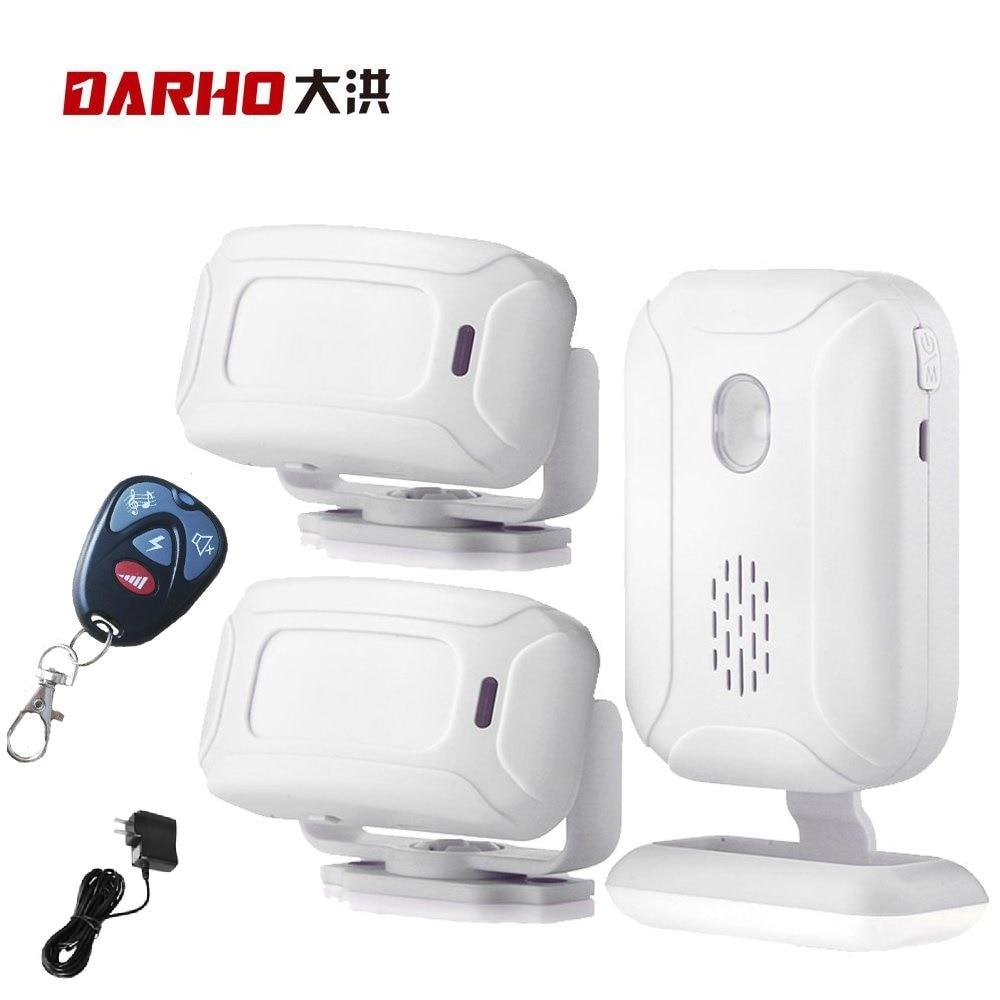 Darho Wireless Doorbell Welcome IR Infrared motion sensor Alarm 280M range Store Shop Door Bell Magnetic Chime|Alarm System Kits| |  - title=