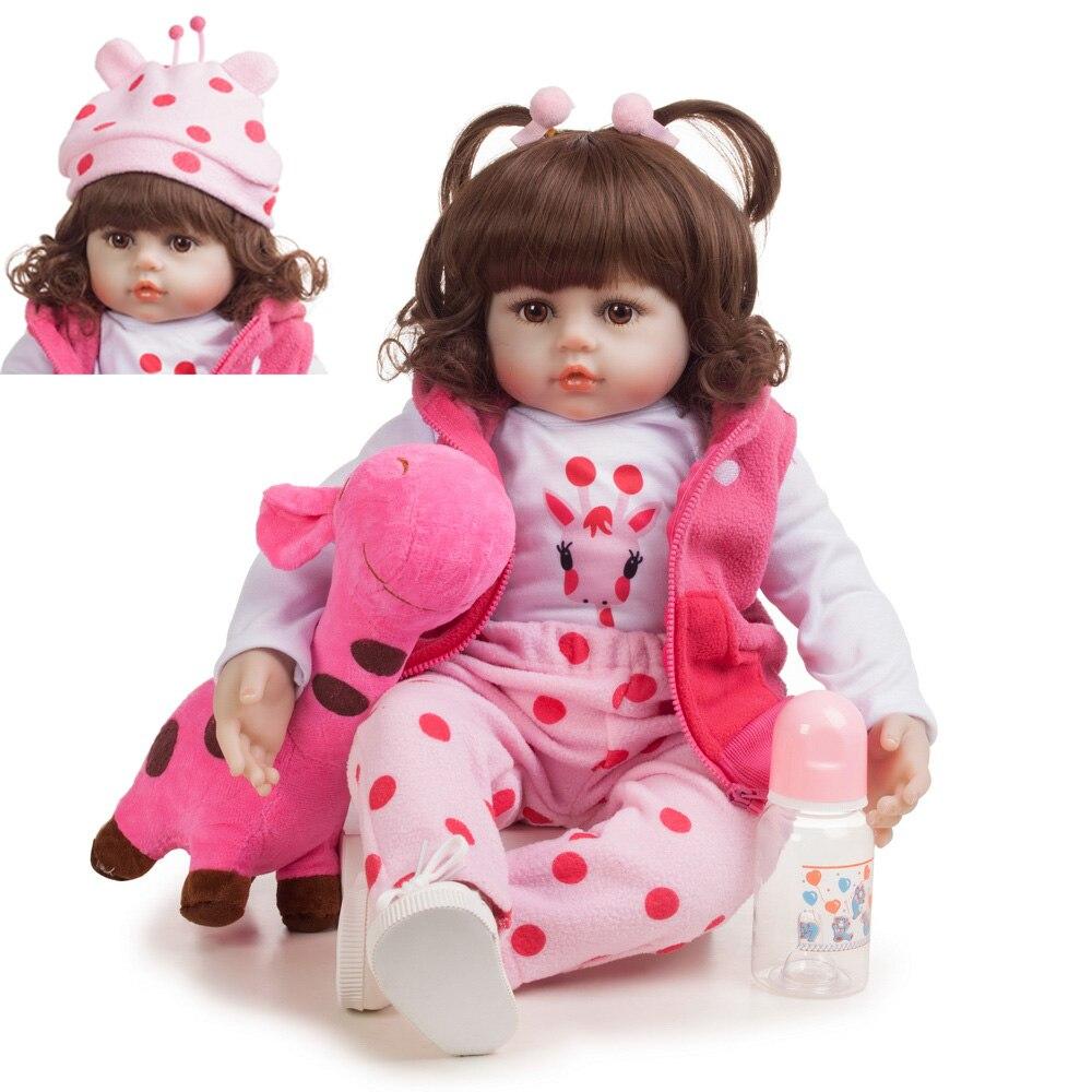 48cm Silicone Reborn bébé poupées Bebe réaliste réaliste bambin vraie fille poupée lol jouets pour enfants meilleur cadeau pour anniversaire