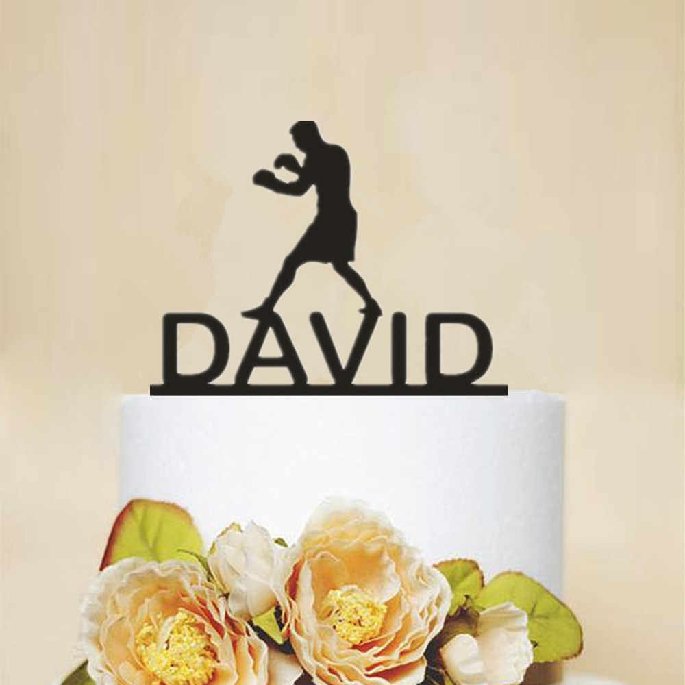 Cool Personalized Name Boxing Birthday Cake Topper Unique Boys Funny Birthday Cards Online Alyptdamsfinfo