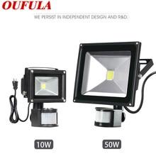 OUFULA Body Induction Flood Light Garage Aisle Street with Sensor