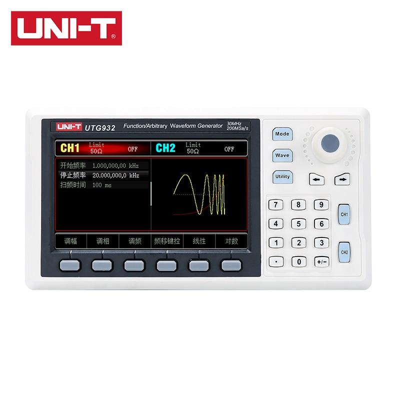 UNI-T utg932 função arbitrária gerador de sinal de forma de onda 30mhz 1hz hz 4.3 Polegada dds apoio freqüência varredura saída