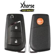 KEYECU (İngilizce versiyonu) xhorse Toyota stil XKTO01EN 2 düğme için evrensel uzaktan VVDI anahtar aracı VVDI2, X020 serisi