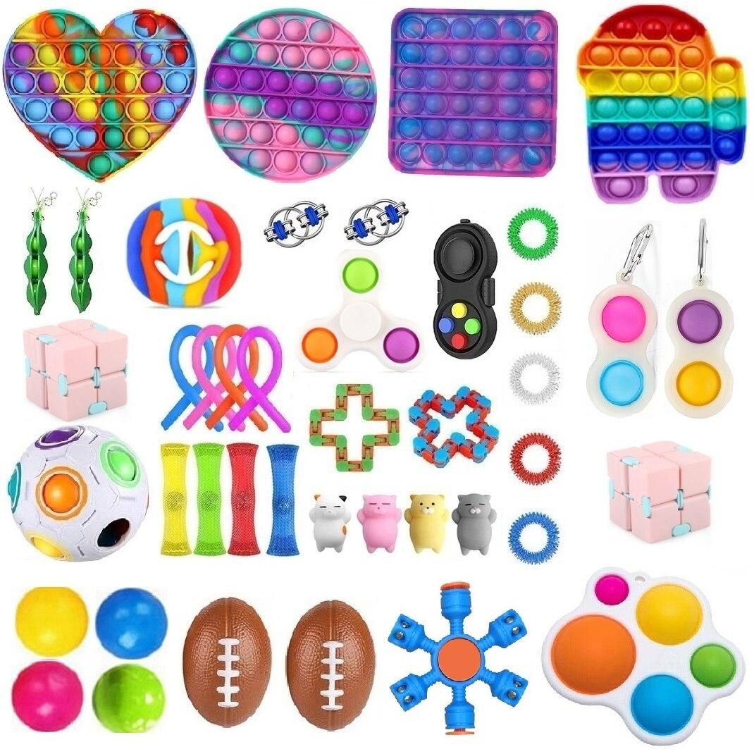 Дропшиппинг игрушки Fidget 20 мм/22 мм/23/24 шт. в лоте; Сенсорная игрушка набор антистресс для сброса аутизм, тревожность, игрушка для снятия стресс...